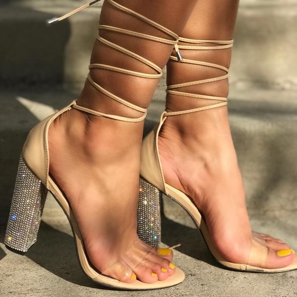 c992de737e Shoes | New Arrival 4 Thick Diamond Nude Heels | Poshmark